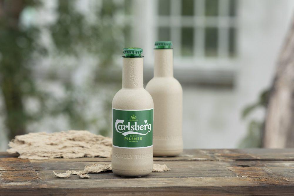 Carlsberg's paper bottle prototype