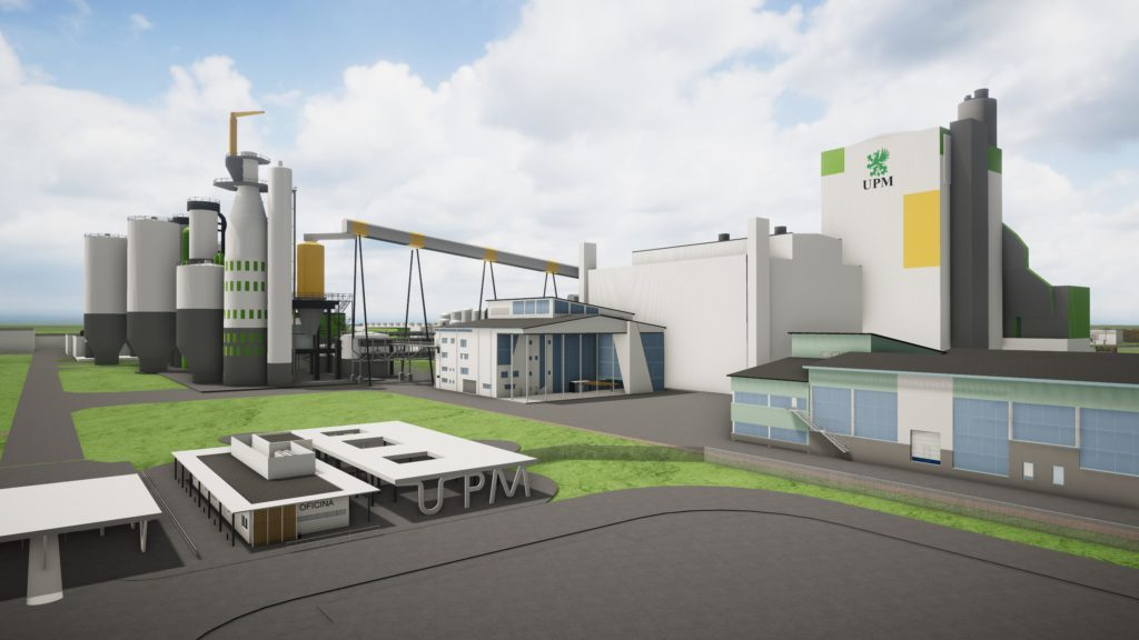 Artist's impression of UPM's new 2.1M-tonne greenfield eucalyptus pulp mill in central Uruguay. Photo: UPM/Informa Group