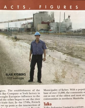 Blair Rydberg, Laura Pettits father, in a 2005 issue of Pulp and Paper Canada