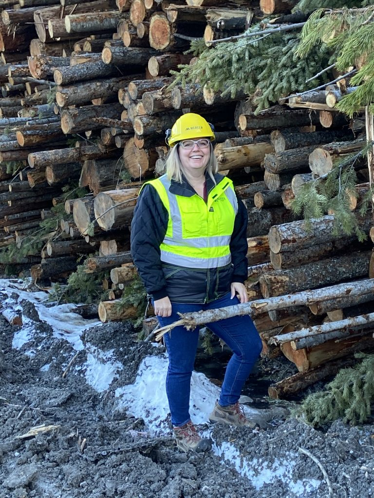 Charlene Strelaeff, fibre forester at Mercer Celgar