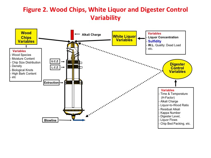 Figure 2. Wood chips, white liquor and digester control variability. Photo: Augusto Quinde